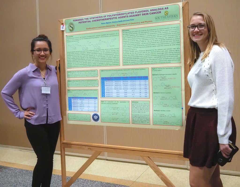 Two Students with their poster at Sekisui sponsored APTEC event