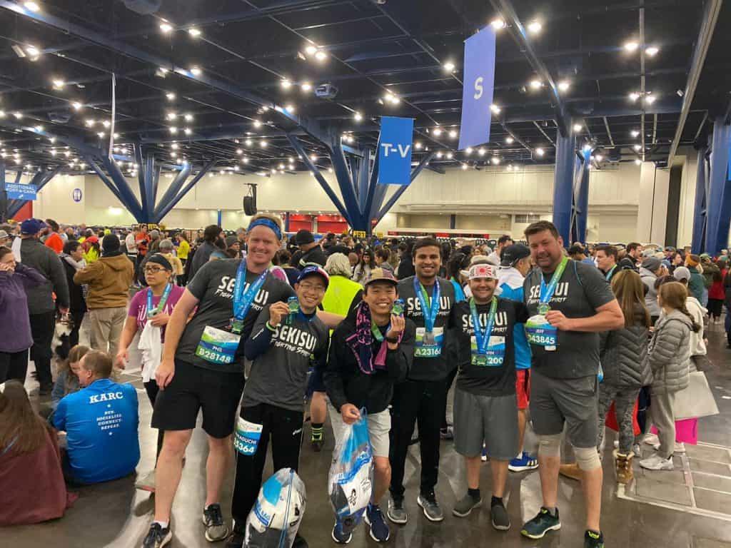 SEKISUI Specialty Chemical's Fighting Spirit Run Team at the Houston Marathon