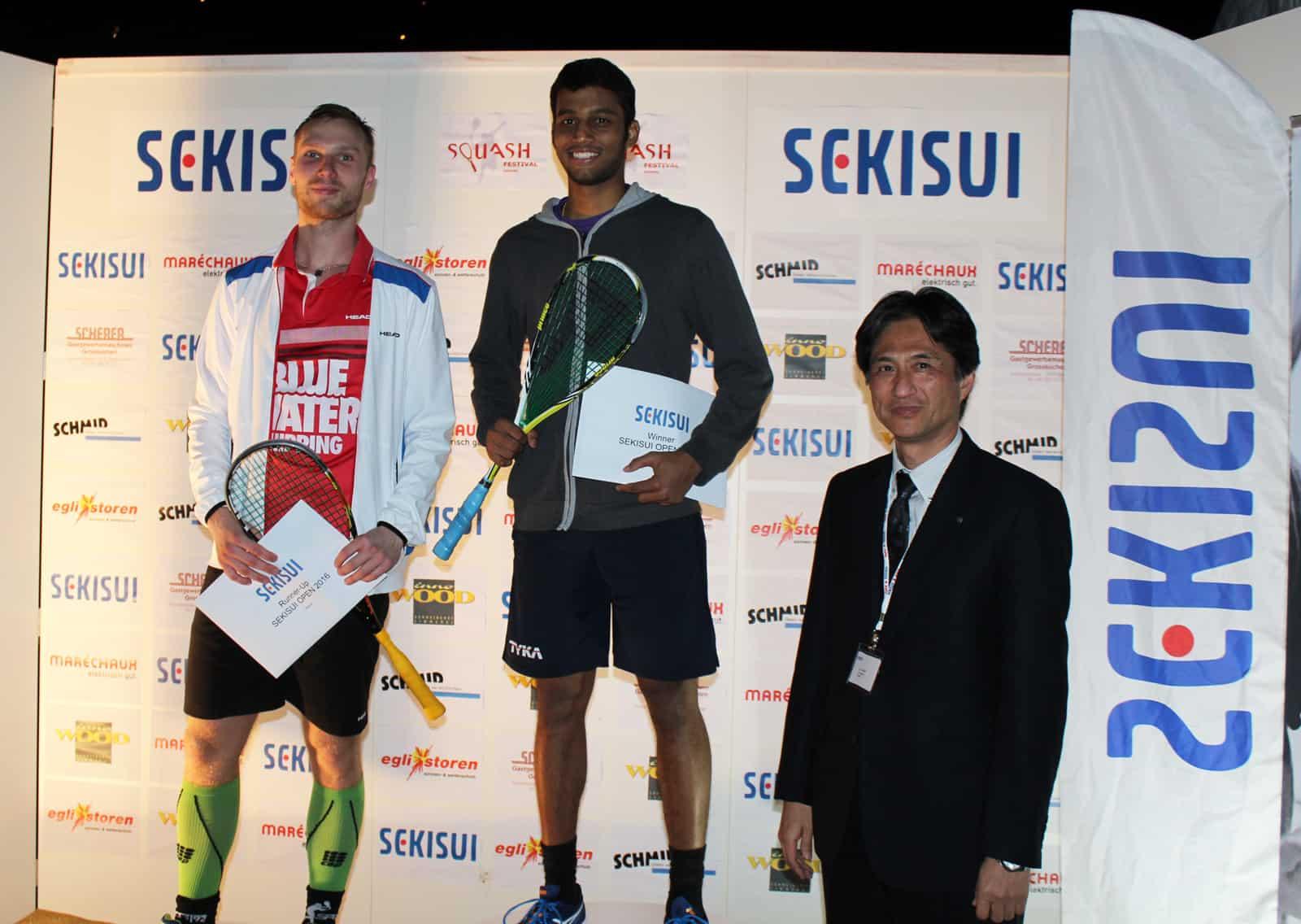 Sekisui Squash Men's Winners