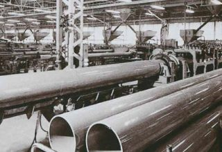 Manufacturing of vinyl chloride (PVC) pipes and building materials begins in Shiga Ritto Factory, Japan