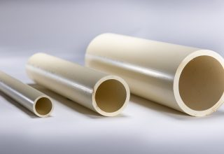 Chlorinated polyvinyl chloride(CPVC) pipes for dish washers are commercialized. These new high resistance materials meet updated drainage requirments of high efficiency washers.